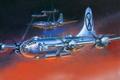 Picture job, flight, art, WW2, bombers, glow, figure, night, rays, Boeing, American, heavy, four-engine, B-29 Superfortress, ...