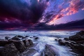 Picture clouds, the sky, light, stones, Water