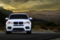 Picture mountains, tuning, before, white, crossover, BMW, white, wheels, front, X5M, BMW