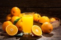 Picture glass, orange, juice, orange juice