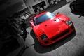 Picture black and white, Ferrari, ferrari f40