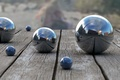 Picture metal, reflection, balls, Board