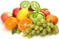 Picture lemon, kiwi, citrus, tangerines, berries, fruit, apples, grapes