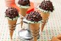 Picture chocolate, ice cream, horn, dessert, sweet, wafer, chocolate, sweet, Ice cream