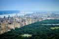 Picture city, USA, United States, river, skyline, trees, bridge, New York, Center, Park, Manhattan, view, tree, ...