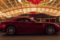 Picture lights, the evening, red, ferrari, car