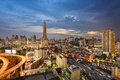 Picture lights, the evening, Thailand, Bangkok, street, home, sunset