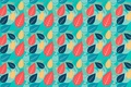 Picture pattern, colorful, leaves