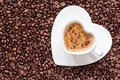 Picture coffee, grain, Cup, drink, heart