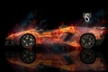 Picture car, abstract, lamborghini, background, lines, aventador, rendering, reflections, genova