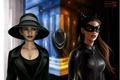 Picture necklace, Catwoman, cat woman
