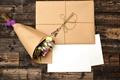 Picture letter, love, flowers, bouquet