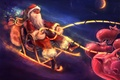 Picture Santa Claus, new year, night