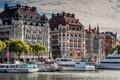 Picture building, pier, port, Stockholm, Sweden, promenade, Sweden, Stockholm, ships, Rival, Norrmalm, Esplanade and Diplomat Hotels