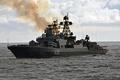 Picture Russia, sky, sea, smoke, war, cloud, ship, 650, Destroyer, the sea, patrol, navy, kumo, Admiral, ...