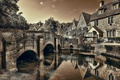 Picture England, Castle Combe, bridge, river, Wiltshire