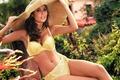 Picture girl, big, babe, bikini, Sexy, hat