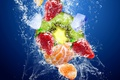Picture ice, fruit, kiwi, water, squirt