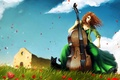 Picture cello, figure, 154, music