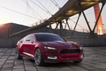 Picture sunset, red, bridge, lights, concept, the concept, ford, Ford, the front, evos, evos