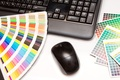 Picture decoration, mouse, colors, notebook