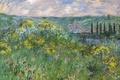 Picture Claude Monet, picture, Landscape near Vétheuil, nature