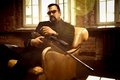 Picture pose, background, chair, costume, Actor, rifle, Director, Steven Seagal, Steven Seagal
