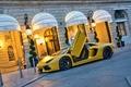 Picture aventador, Lamborghini, aventador, lp700-4, Lamborghini, supercar, yellow, the building, supercar, building, yellow