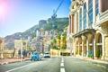 Picture machine, people, street, building, crane, Cars, Monaco, Street, Monaco, Building, People, European