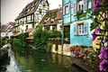 Picture Strasbourg, France, France, home, Alsace, Windows, channel, Strasbourg, canal, Elsass, building, pots