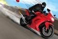 Picture speed, art, race, motorcycle, ninja, the explosion, a balloon, ninja, fire