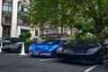 Picture Bugatti, Veyron, supercar, Bugatti, Blue, Lamborghini, Black, the front, London, Aventador, aventador, Veyron, hypercar, matte, ...