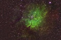 Picture space, emission nebula, NGC 6820