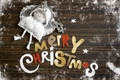 Picture snow, congratulations, doll, Merry Christmas, frost, angel, letters, Christmas, Christmas, the inscription