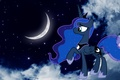 Picture The moon, the night sky, MLP, cartoons, The Moon Princess, night, pony, My little pony, ...